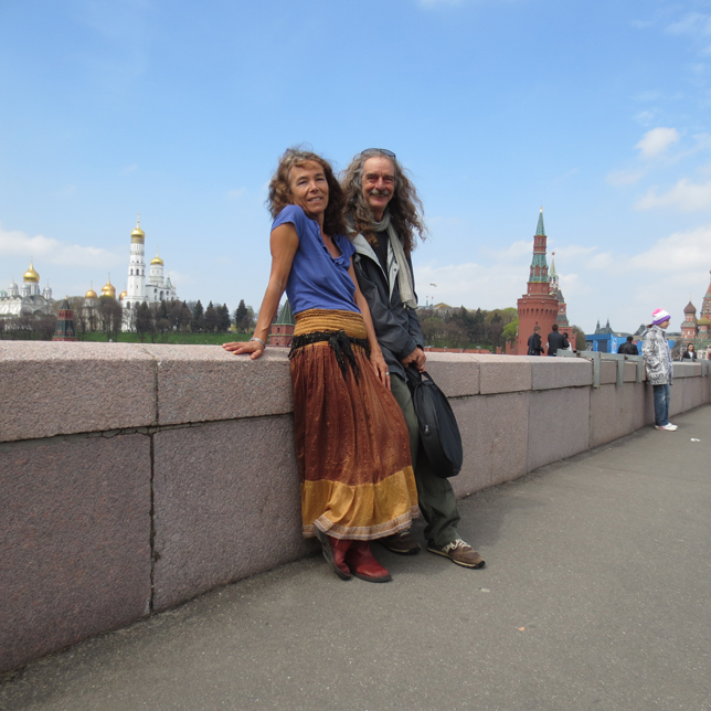Ling Shien and Mark in Moscow.
